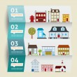 Houses icons. vector illustration. Infographic — Stockvektor