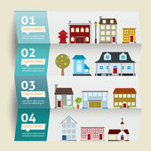 Houses icons. vector illustration. Infographic — Stock Vector