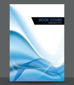 Blue wave vector brochure — Stock Vector