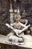 Sculpture musician. — Stock Photo