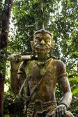 Frightening stone statue. — Stock Photo