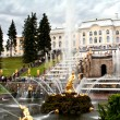"Peterhof, Fountain ""Samson tearing open the jaws of a lion."" — Stock Photo"