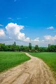 Route dans le village — Photo