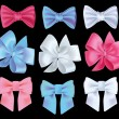 Set realistic color bows, vector illustration. — Stock Vector #29958725