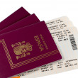 Royalty-Free Stock Photo: Passport and Boarding Pass