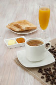 Breakfast with Coffee — Stock Photo
