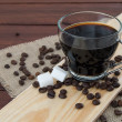 Cup of black coffee — Stockfoto