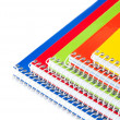 Foto Stock: Spiral notebooks