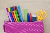 Assorted school supplies — Stock Photo