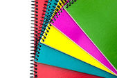 Colorful spiral notebooks — Photo