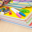 School Supplies on desk — Stock Photo #27405295