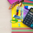 School office supplies — Stock Photo