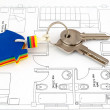 Foto Stock: House key