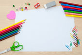 School supplies with blank pages — Stock Photo