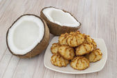 Coconut cookies — Stock Photo
