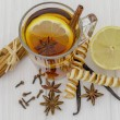 Stock Photo: Christmas teand spices