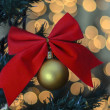 Christmas golden ball — Stock Photo