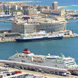 Ferry in the port of Barcelona — Stock Photo
