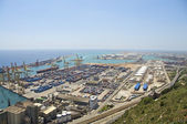 Freight Container Harbor Barcelona — Stock Photo