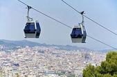 Funicular on Montjuic — Stock Photo
