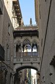 El barrio gótico de barcelona — Foto de Stock