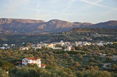 Landscape, mountains and olive groves in south Crete — Stock Photo