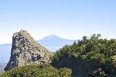 La gomera ortasına volkanik prizler — Stok fotoğraf
