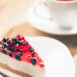 Cheesecake and Tea — Stock Photo