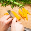 Cutting Carrots — Stock Photo #25245623