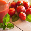 Strawberry Juice — Stock Photo