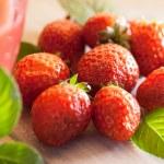 Strawberry Juice — Stock Photo