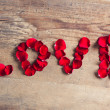 Rose Petal Love — Stock Photo
