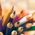 木制彩色铅笔 — 图库照片