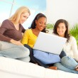 Stock Photo: Friends With Laptop