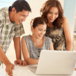 Asian Family Together — Stock Photo