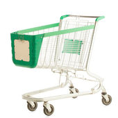 Prázdný nákupní vozík — Stock fotografie