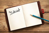 To Do List — Foto Stock