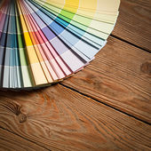 Paint Colour Palette — Stock Photo