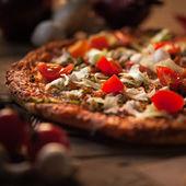 Wegetariańska pizza — Zdjęcie stockowe