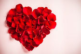 Rose Petal Heart — Stockfoto
