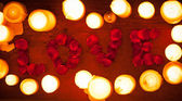 Love Candles — Foto Stock