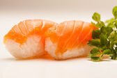 Salmon Nigiri Sushi — Stock Photo