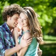 Smiling Couple in Summer — Stock Photo #25255805