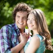 Smiling Couple in Summer — Stock Photo