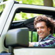 Young  man Enjoying a Car Ride — Stock Photo