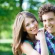 Loving Couple In Park — Stock Photo