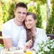 Couple Having Breakfast — Stock Photo