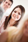Smiling College Students — Stock Photo