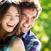 Glada tillsammans — Stockfoto