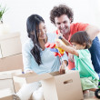 Happy Family In New Home — Stock Photo #25283579
